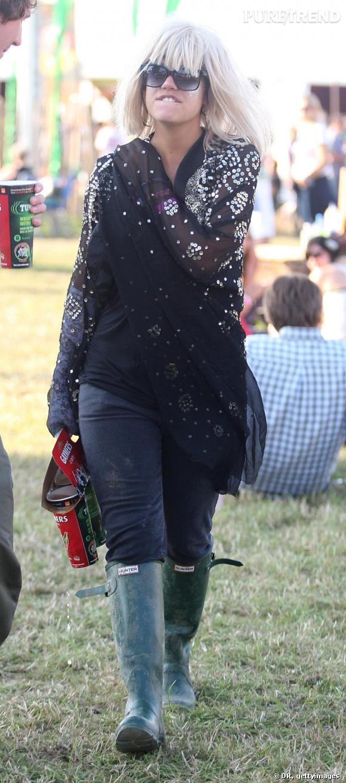 Lily Allen au festival Glastonbury