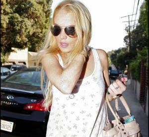 Lindsay Lohan, en total look blanc