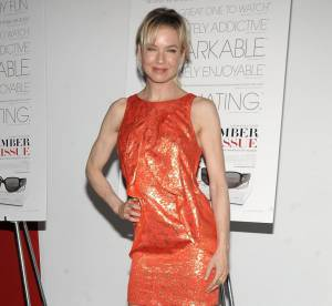 Renee Zellweger, acidulée en mini robe orange