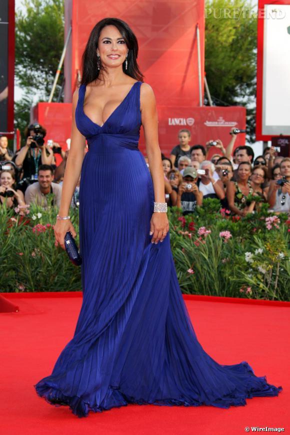 Maria Grazia Cucinotta lors de la cérémonie d'ouverture de la 66e édition du Festival de Venise