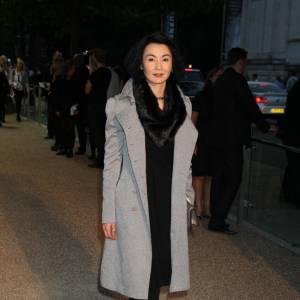 Maggie Cheung au défilé Burberry Prorsum