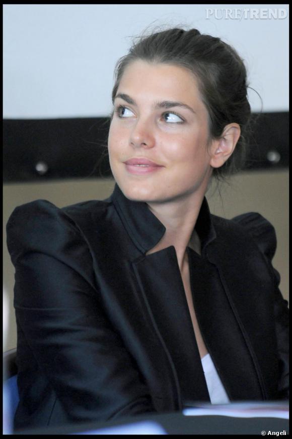 Charlotte Casiraghi à l'ouverture de cittadellarte fashion à Biella