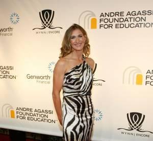 Steffi Graf, sublime en robe zébrée