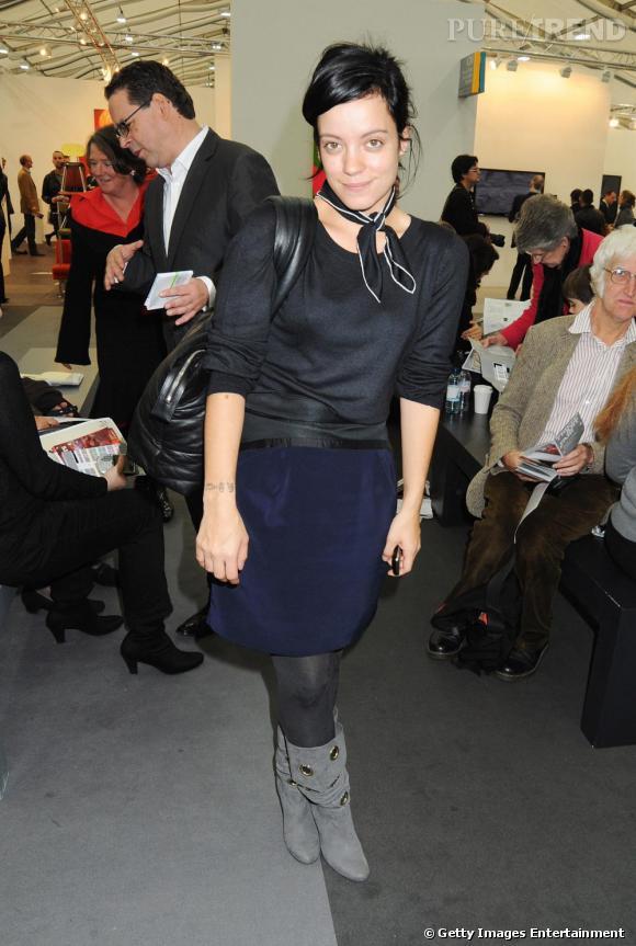 Lily Allen lors de l'inauguration du Frieze Art Fair à Londres