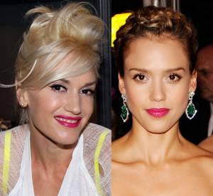 Gwen Stefani Vs Jessica Alba : la bouche rose, cheap ou chic ?