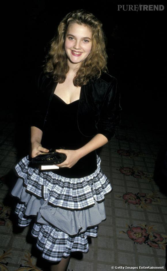 Drew Barrymore, 1988 et la jupe gypsie