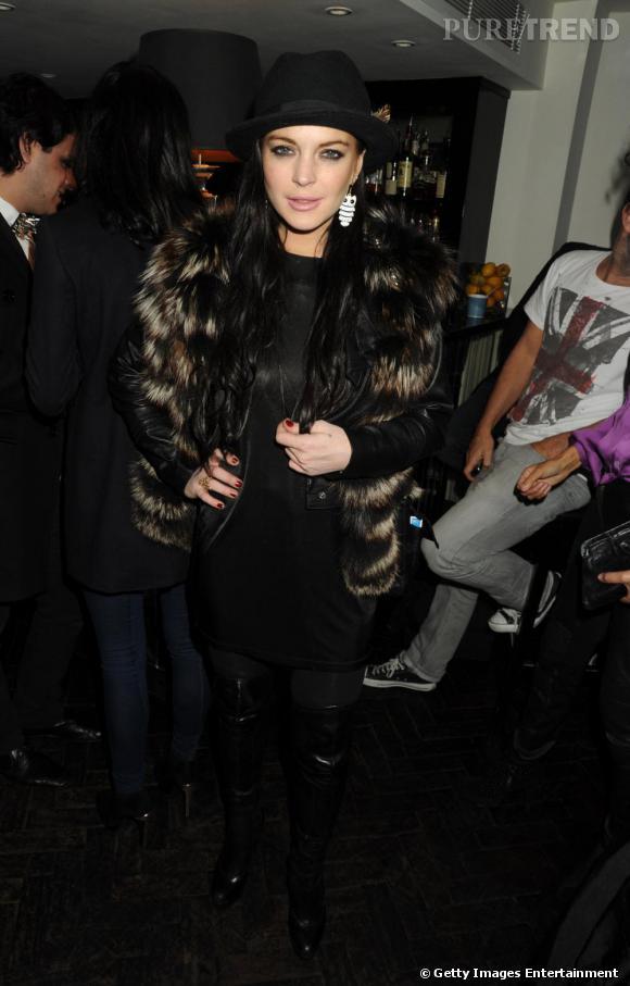 Lindsay Lohan à la soirée de lancement du jeu Heavy Rain pour Playstation