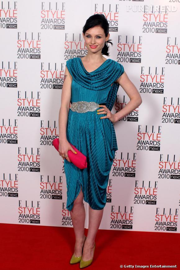 Sophie Ellis-Bextor et sa robe de vestale moderne