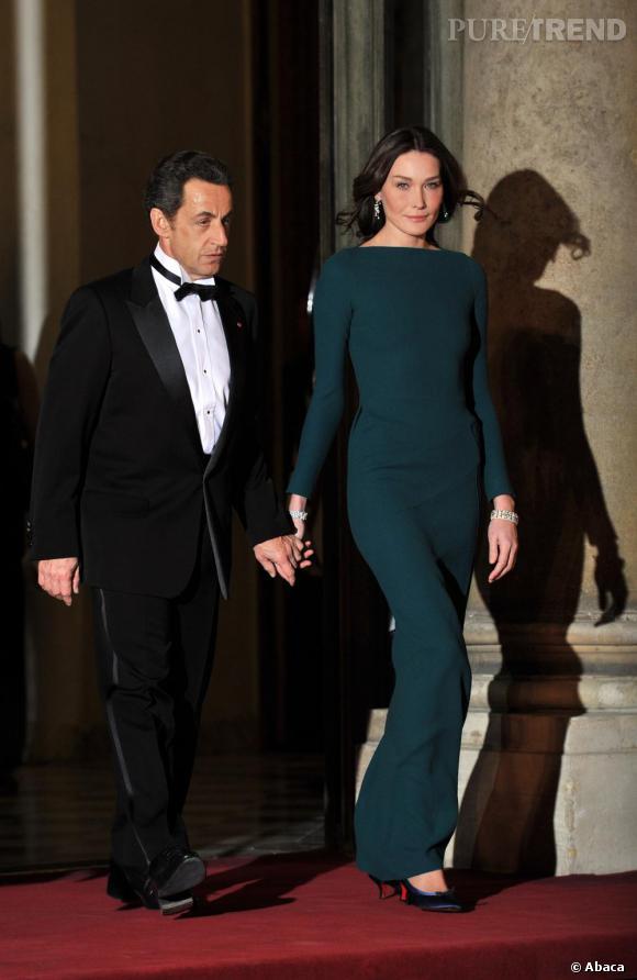 Carla Bruni Sarkozy aux côtés de Nicolas Sarkozy
