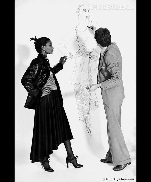 Yves Saint Laurent et Mounia