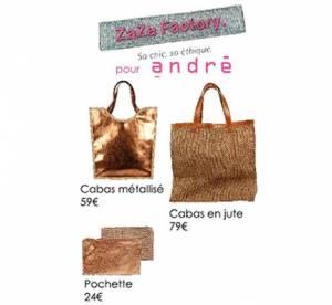 ZaZa Factory et André lancent une ligne de sacs