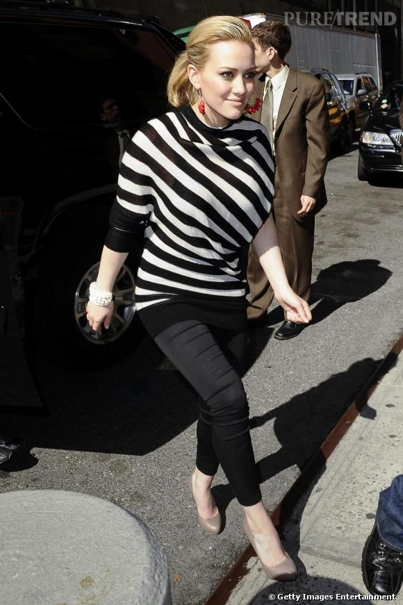 Hilary Duff rejoignant son hôtel à New York