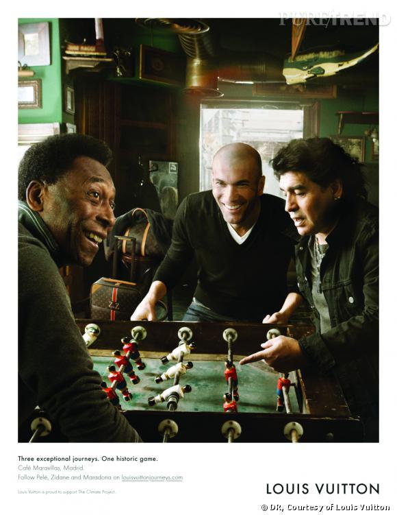 Pelé, Diego Maradona et Zinedine Zidane dans la campagne Louis Vuitton