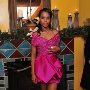Kerry Washington  Egérie l'Oréal elle aussi, il y a de grandes chances pour que Kerry Washington choisisse une robe Marchesa, comme à son habitude.