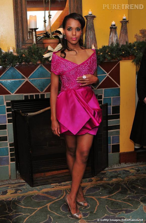 Kerry Washington       Egérie l'Oréal elle aussi, il y a de grandes chances pour que Kerry Washington choisisse une robe  Marchesa , comme à son habitude.