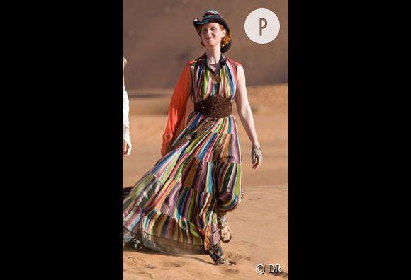 Miranda dans le désert de Marrakech
