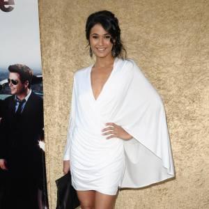 Emmanuelle Chriqui lors de la soirée fêtant la saison 7 de la série Entourage à Los Angeles