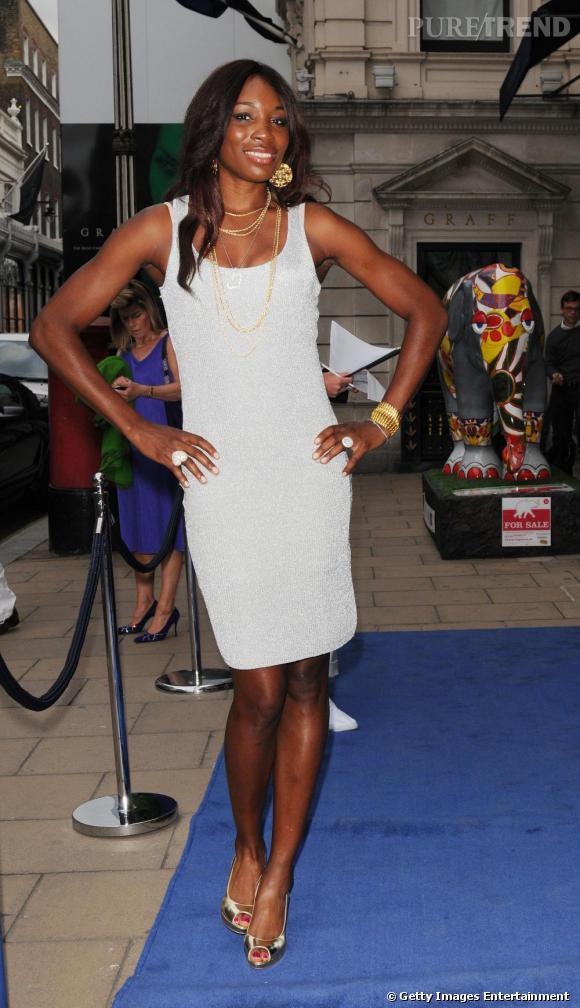 Venus Williams sur le tapis rouge de la Pee-Wimbledon Party à Londres