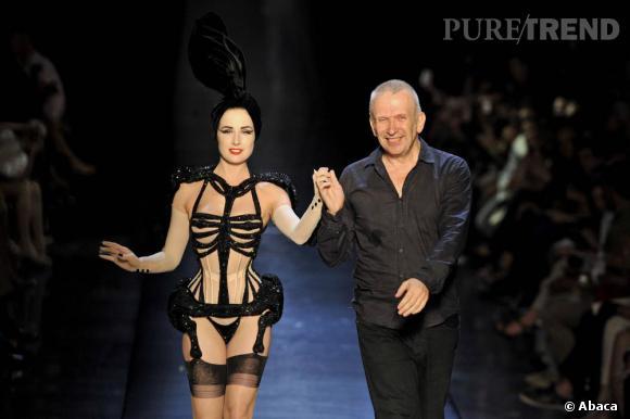 Dita Von Teese aux côtés de Jean Paul Gaultier