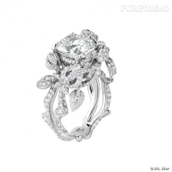 Très Bague Précieuses Rose, en or blanc et diamants. Dior Joaillerie CV89