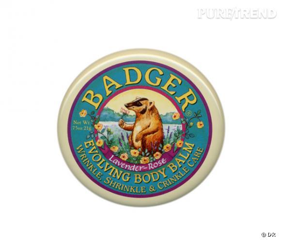 Un baume ravissant dans une petite boîte vintage à emporter partout. Lèvres, petites coupures, irritations, il est multi-fonctions. Baume Badger Balm, 4.90 €. En vente sur le site de Green Bazar Bio.
