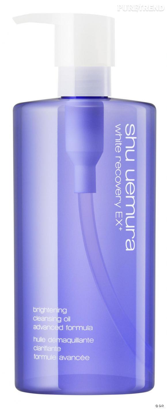L'huile démaquillante clarifiante formule avancée pour les peaux ternes, exposées aux UV et sujettes aux tâches.