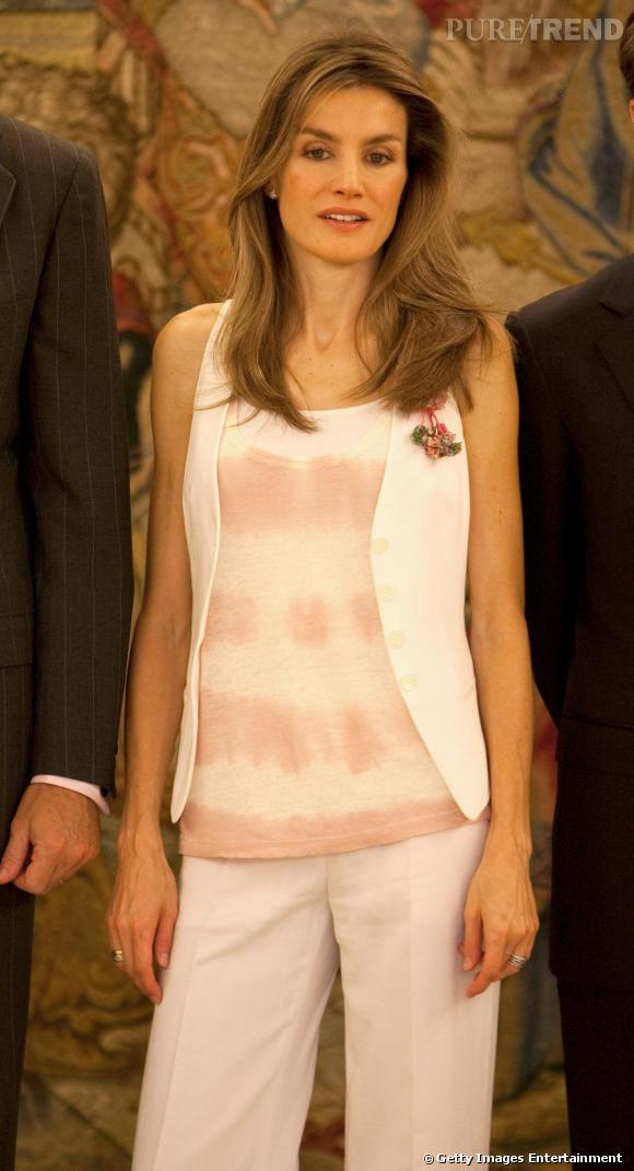 La princesse Letizia Ortiz toujours aussi élégante.