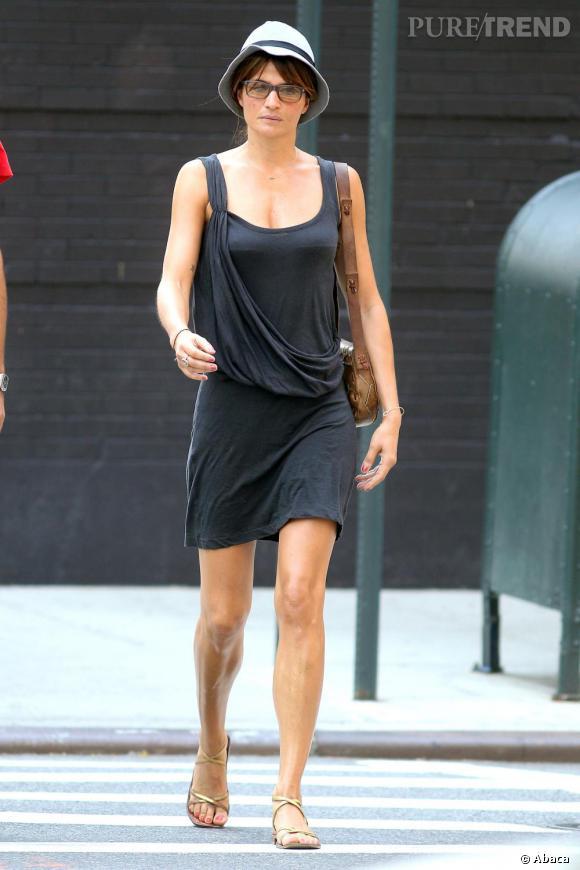 Helena Christensen faisait presque peur dans les rues de New York.