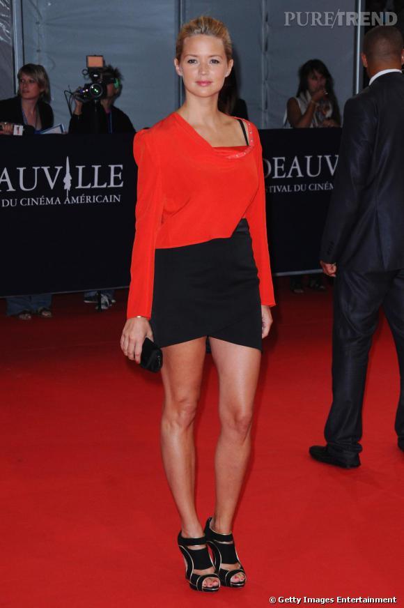 Virginie Efira à la première de The Debt lors du Festival du film de Deauville.