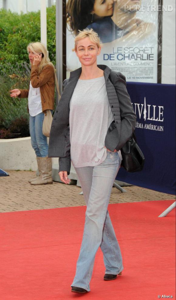 Emmanuelle Béart à la projection de The Joneses lors du 36ème Festival du film américain de Deauville.