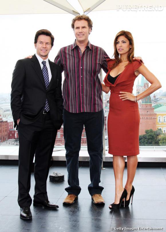 Eva avec Marc Wahlberg et Will Ferrell.