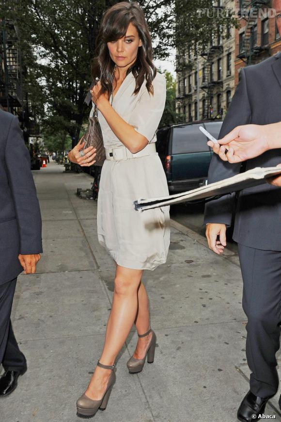 Katie Holmes pendant la Fashion Week new-yorkaise.