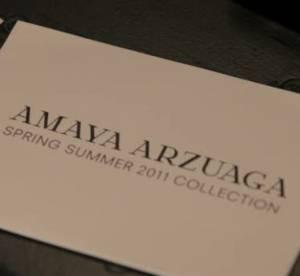 Vidéo : Défilé Amaya Arzuaga Printemps-été 2011