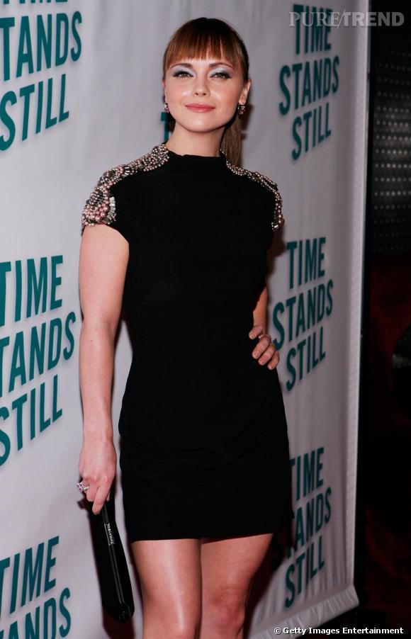 Christina Ricci à la première de Time Stands Still à Broadway, New York.