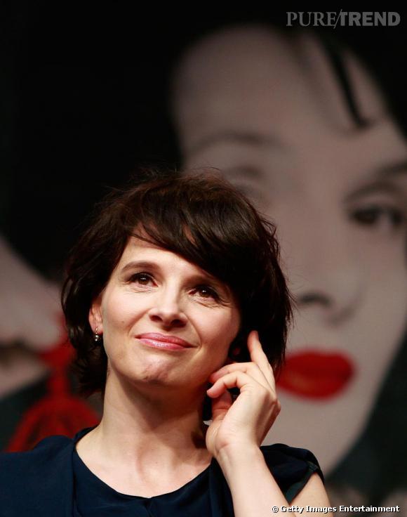 Juliette Binoche au Festival du Film de Pusan en Corée du Sud.