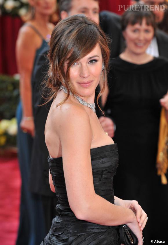 En 2008 retour de la mèche et du chignon flou, assurément une des plus belles coiffures de l'actrice.