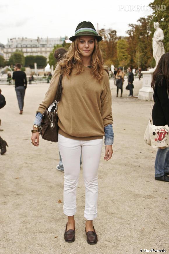 Streetstyle L Automne En Pente Douce Preppy Cool Le Pull Camel