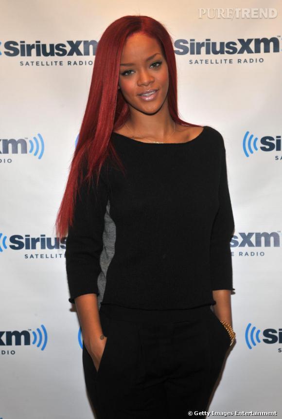 Rihanna au Sirius XM Studio à New York.