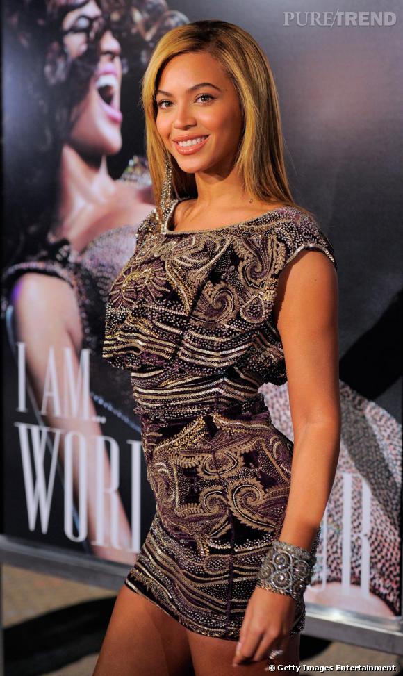 Beyoncé lors de la projection de I AM... World Tour à New-York.