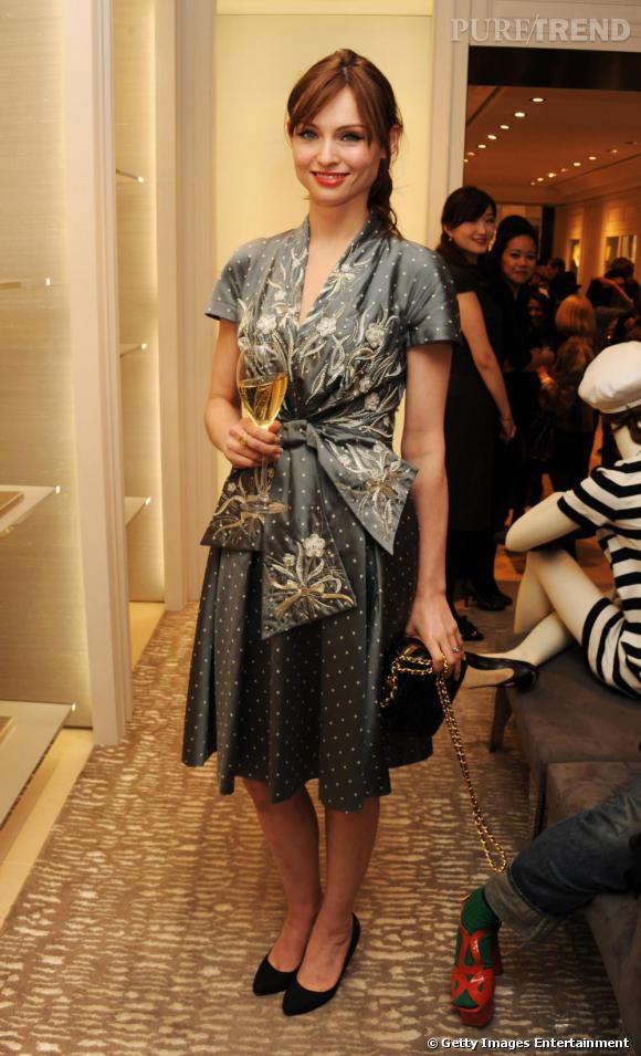 Sophie Ellis Bextor à l'ouverture d'une boutique Dior à Londres.