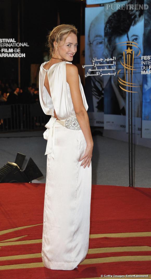 Hélène de Fougerolles au Festival du Film de Marrakech.