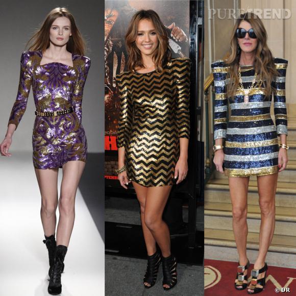 Des podiums à la rue : la robe glitter