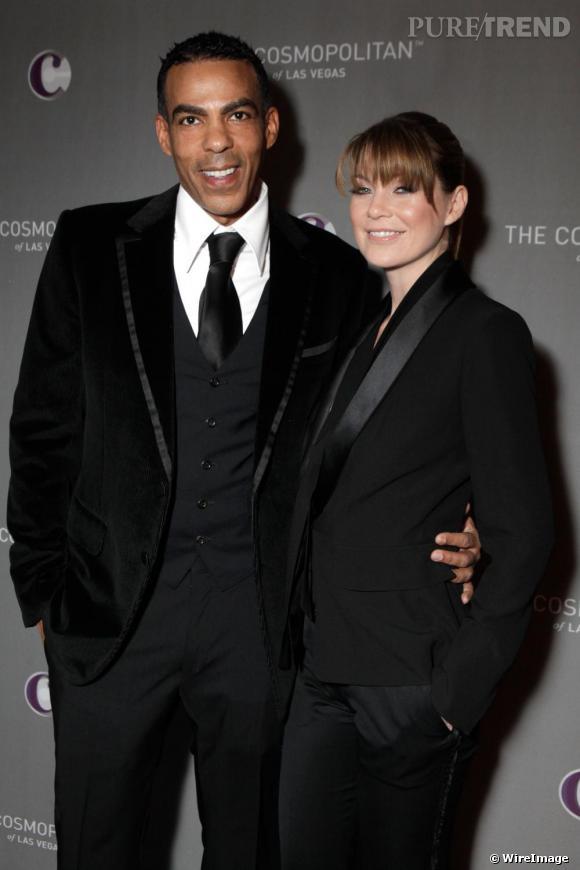 Ellen Pompeo et son mari le producteur Chris Ivery.