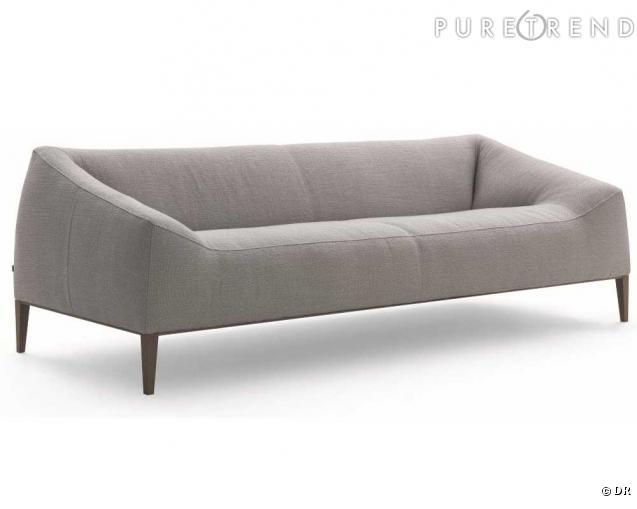 canap carmel chez poliform des lignes pur es un look vintage la bourgeoise eighties ne s 39. Black Bedroom Furniture Sets. Home Design Ideas