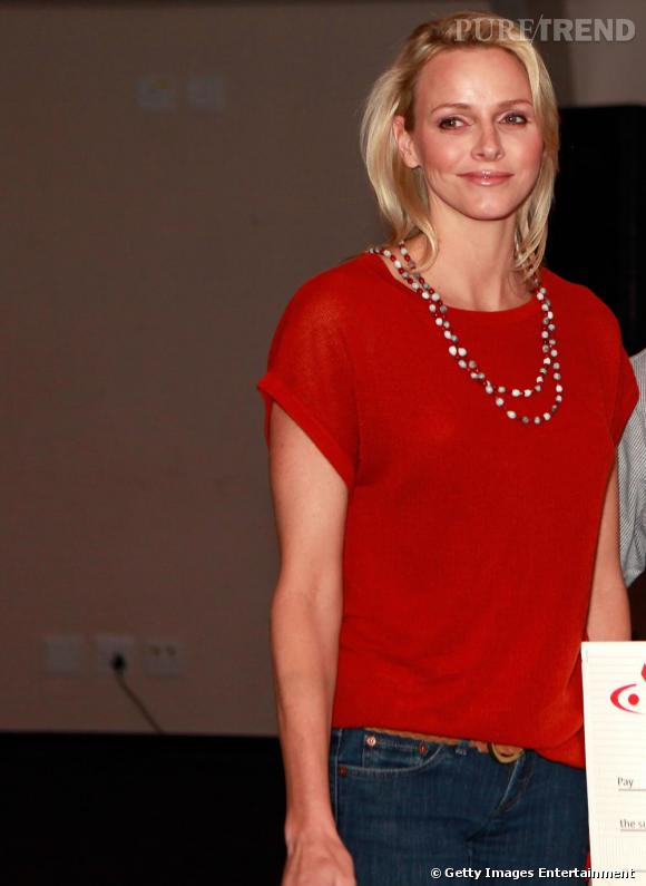 Charlene Wittstock lors d'un dîner de charité, en Afrique du Sud.