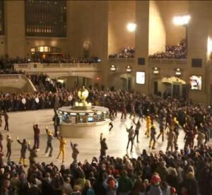 Moncler Grenoble s'essaie au flashmob