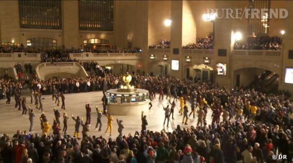 Flashmob Moncler, automne-hiver 2011/2012, New-York.