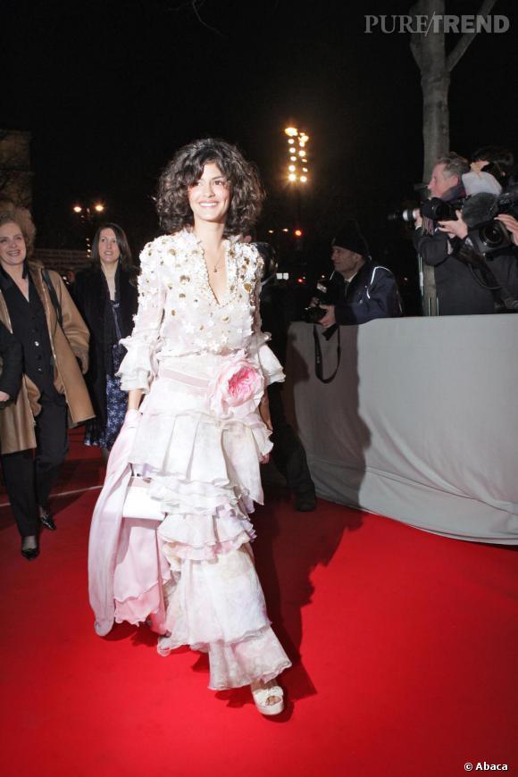 2005    Audrey Tautou en fleurs.
