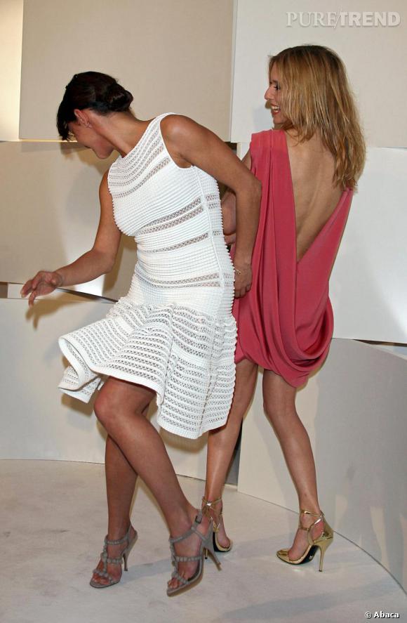 2008   Ambiance bon enfant pour Emma de Caunes et Léa Drucker.