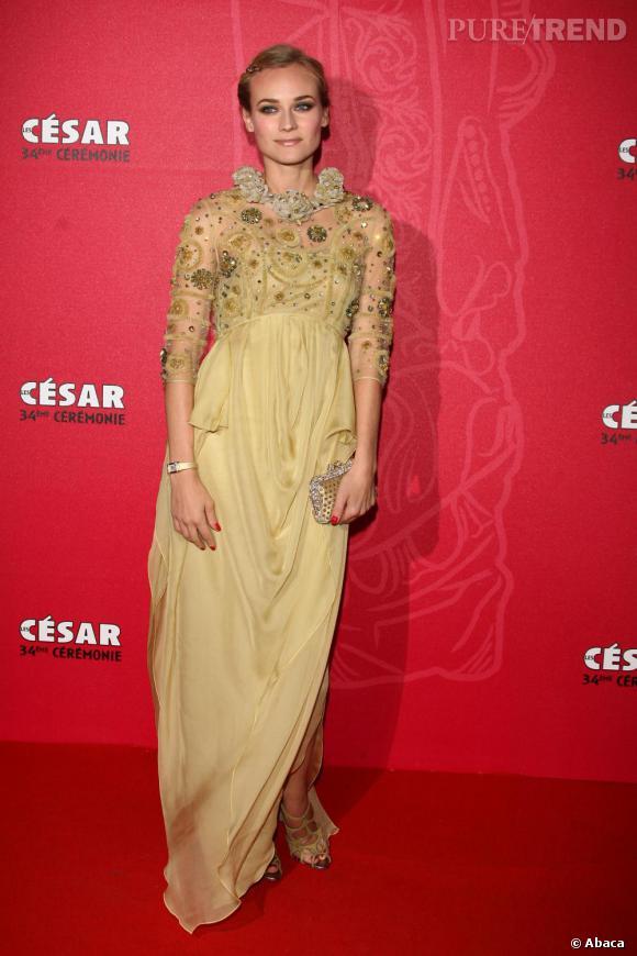 2009   Diane Kruger, la maîtresse du style illumine les César.